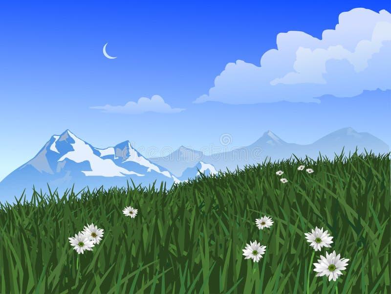 De Scène van de berg stock illustratie