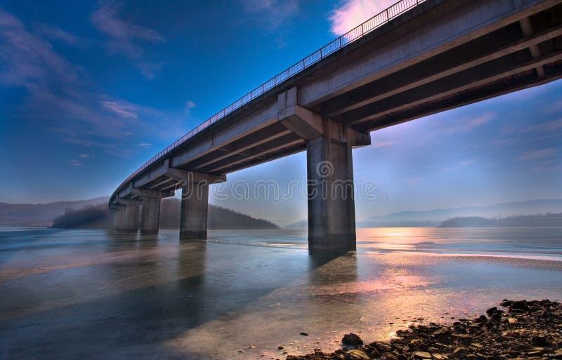 De scène van de brug stock foto