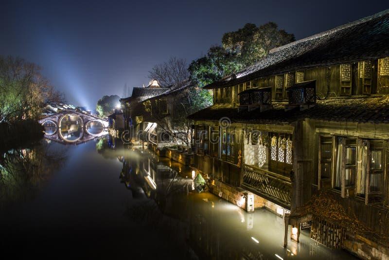 De scène van de de bouwnacht van China royalty-vrije stock foto's