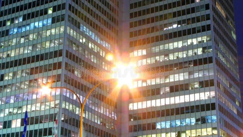 De scène van de de stadsnacht van Montreal stock afbeeldingen