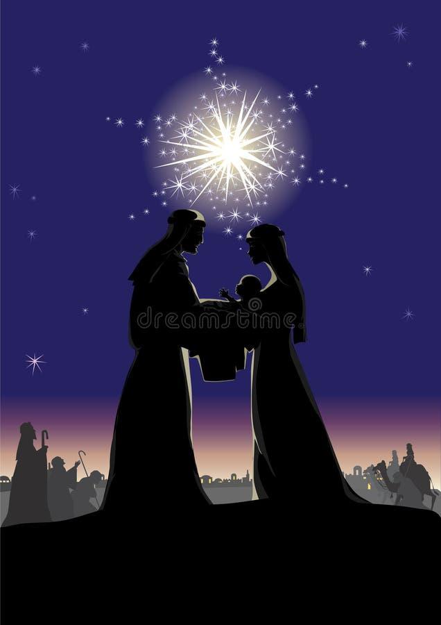 De scène van de geboorte van Christus