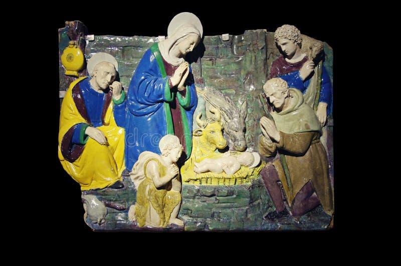 De scène van de geboorte van Christus stock foto