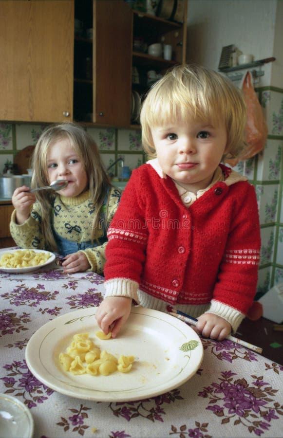 De scène van de keuken stock afbeeldingen