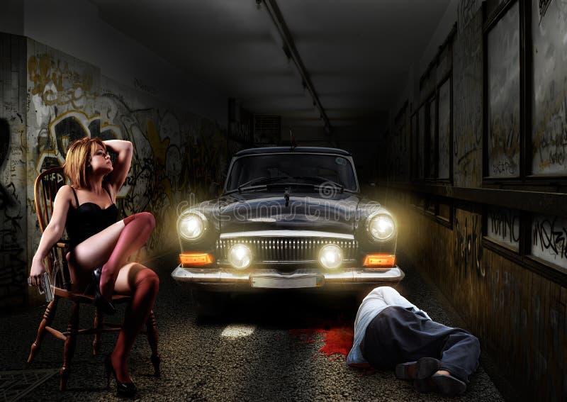 De scène van de misdaad stock foto's