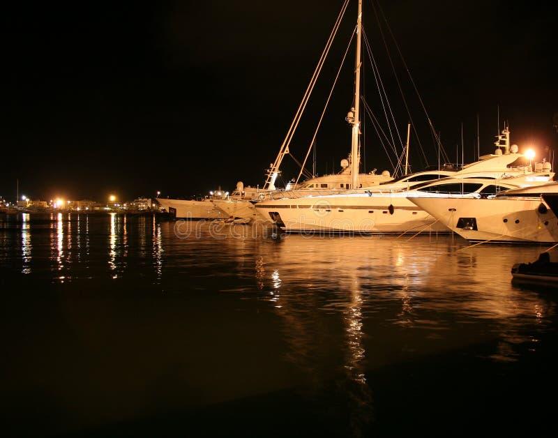 De Scène van de nacht in Ibiza stock foto's