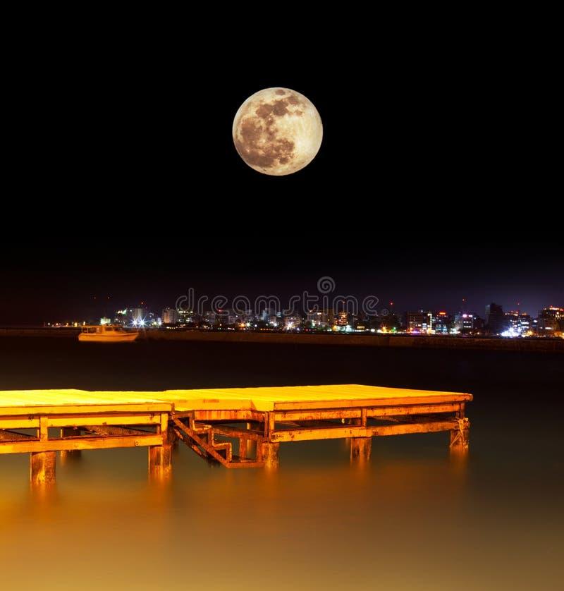 De scène van de nacht in Mannetje stock foto