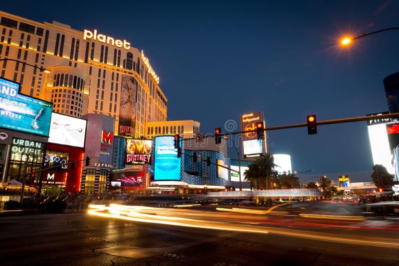 De Scène van de Nacht van de Strook van Vegas van Las royalty-vrije stock fotografie
