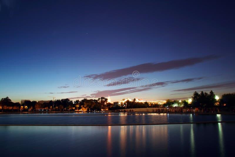 De scène van de nacht van Peking royalty-vrije stock foto