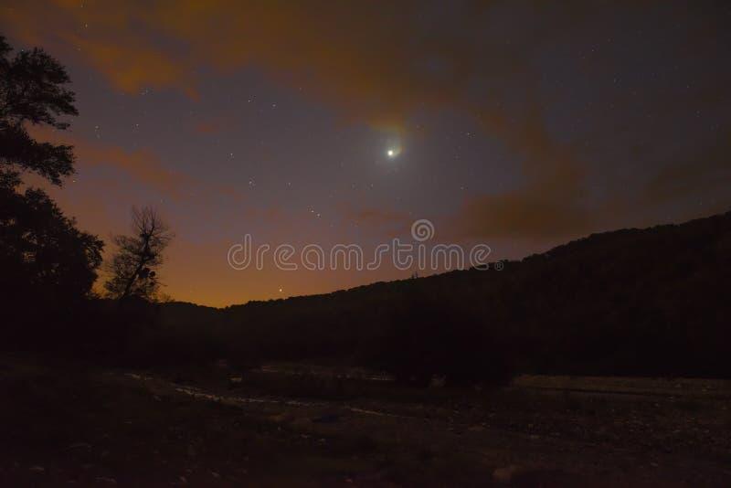 De scène van de nachthemel stock foto's
