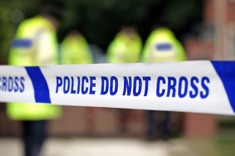 De scène van de politiemisdaad