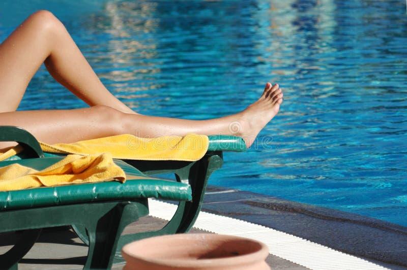 De scène van de pool royalty-vrije stock fotografie