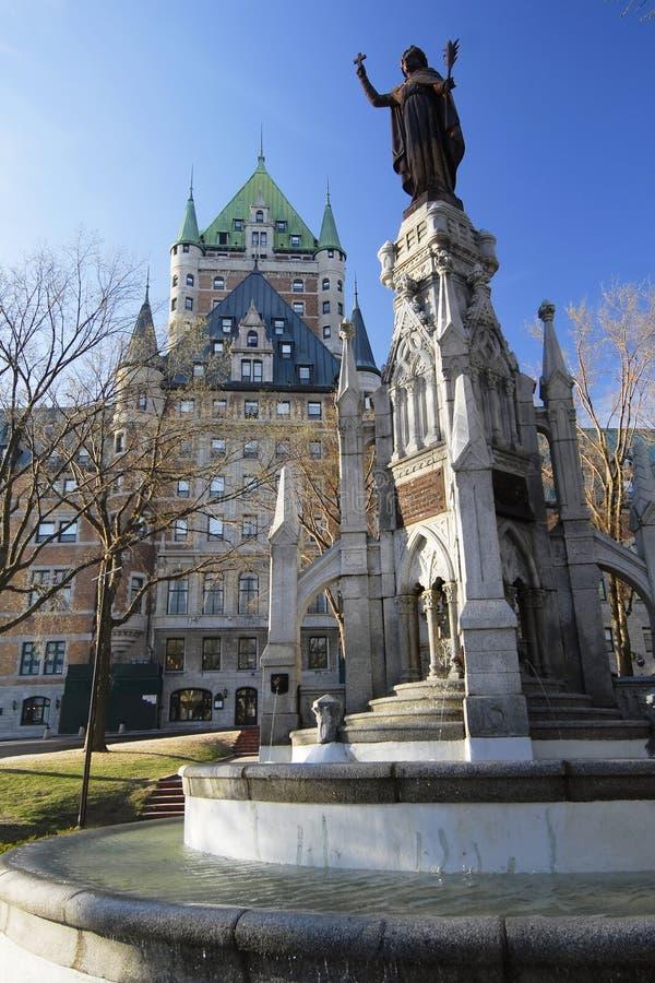De Scène van de Stad van Quebec stock foto
