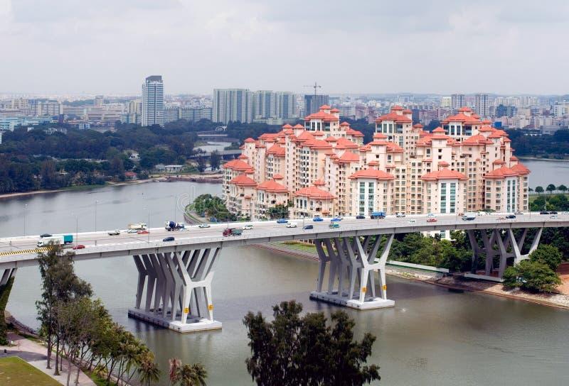 De Scène van de Stad van Singapore royalty-vrije stock fotografie