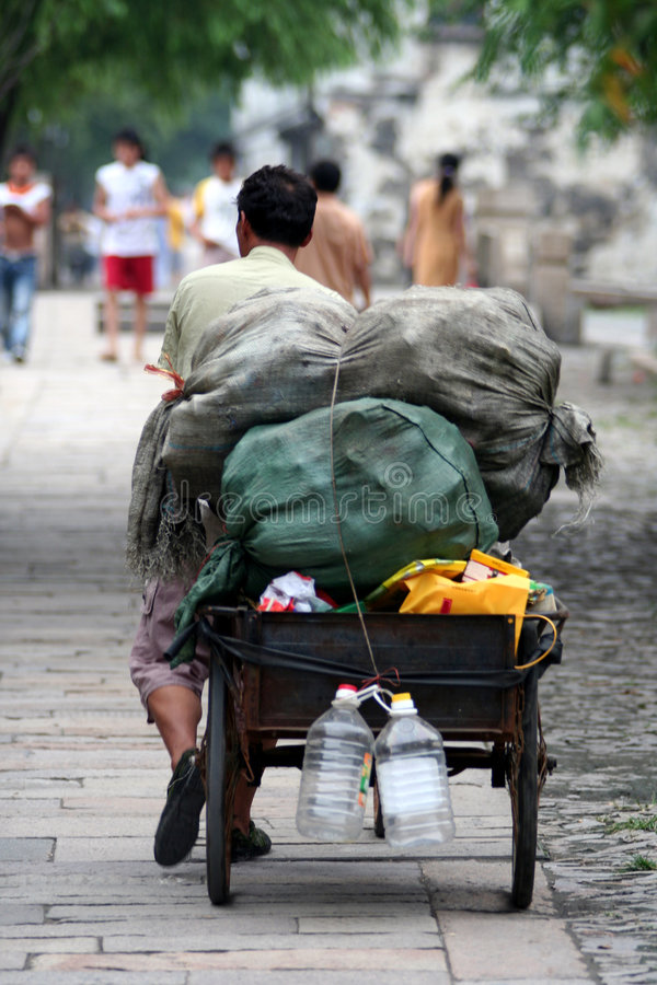 De Scène Van De Straat In China Royalty-vrije Stock Afbeelding