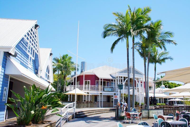 De Scène van de Straat van de Stad van Brisbane royalty-vrije stock foto's