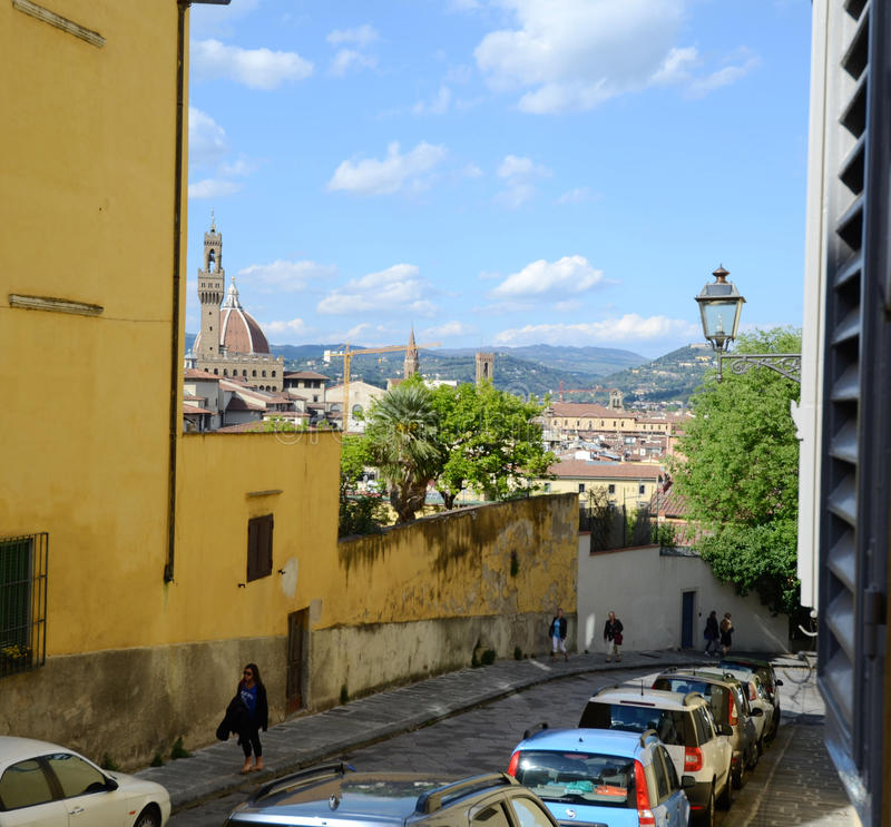 De scène van de Straat van Florence royalty-vrije stock fotografie