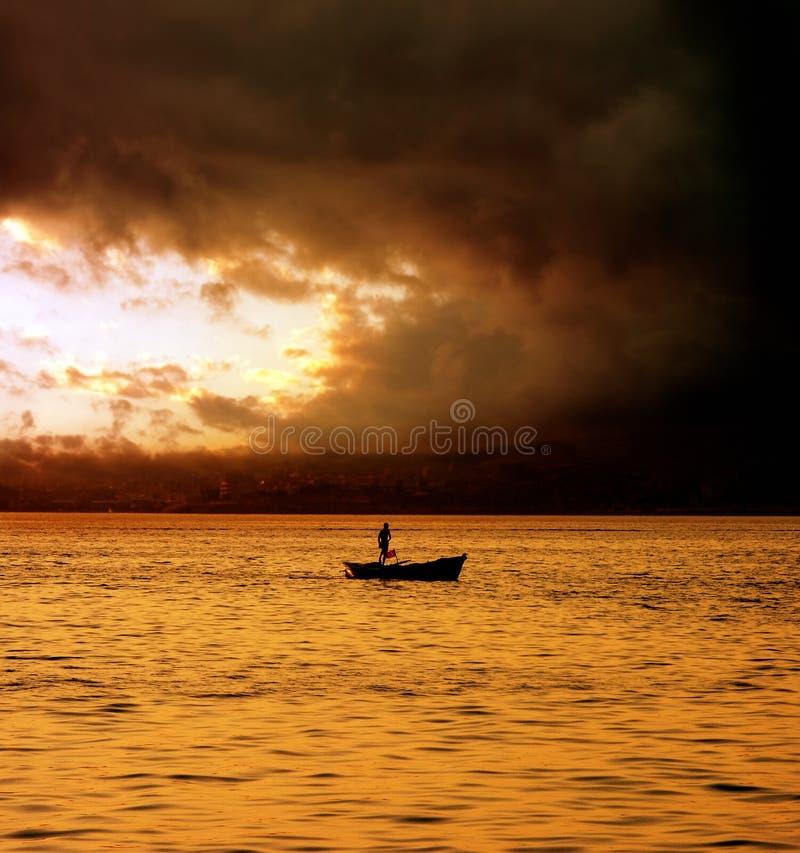 De scène van de zonsondergang royalty-vrije stock afbeelding
