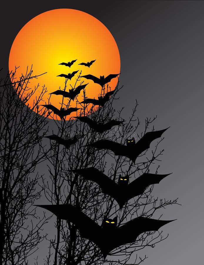 De scène van Halloween royalty-vrije illustratie