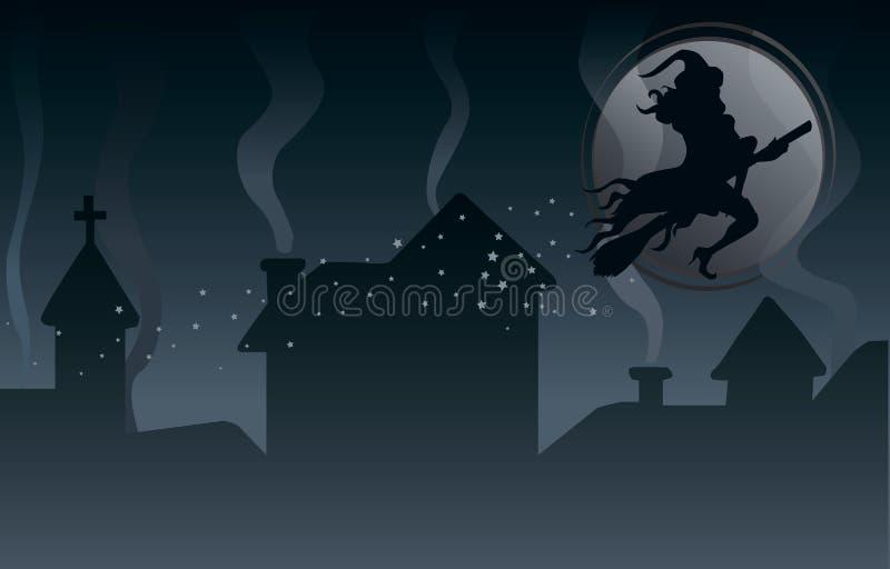 De scène van Halloween stock illustratie