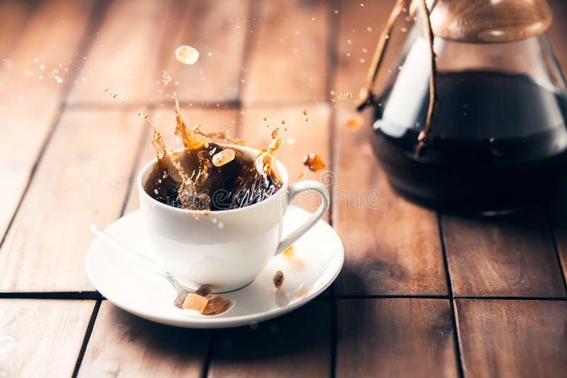 De scène van het koffietafelblad royalty-vrije stock foto