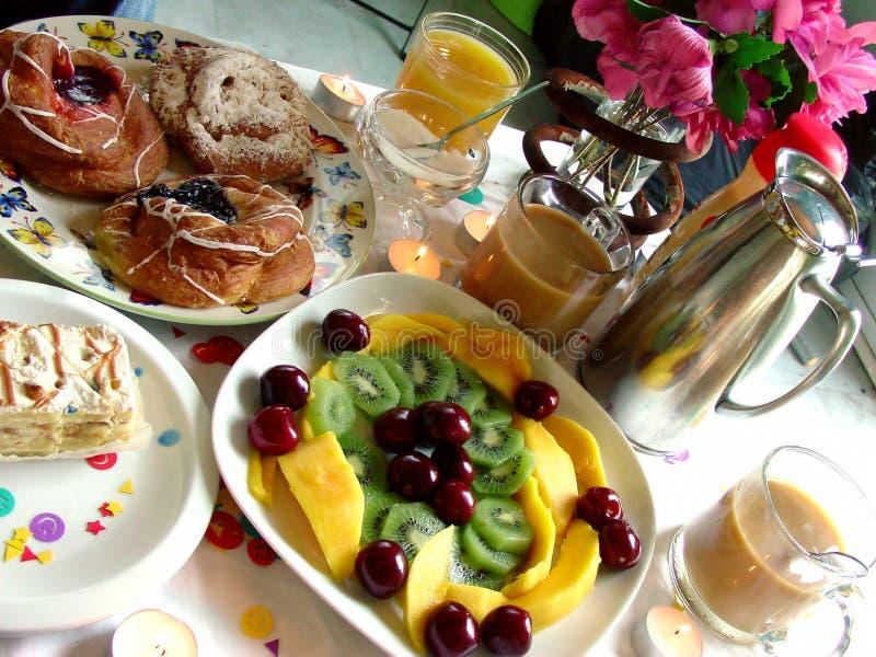 De Scène van het ontbijt stock afbeeldingen