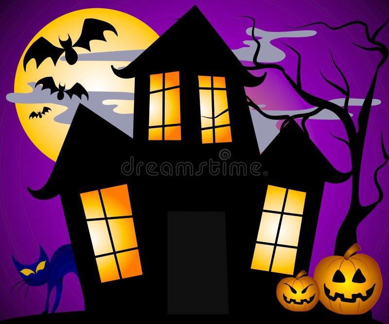 De Scène van het spookhuis   vector illustratie