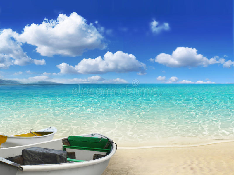 De scène van het strand royalty-vrije stock foto