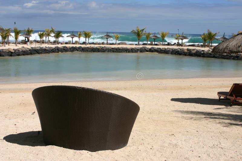 De scène van het strand royalty-vrije stock afbeelding