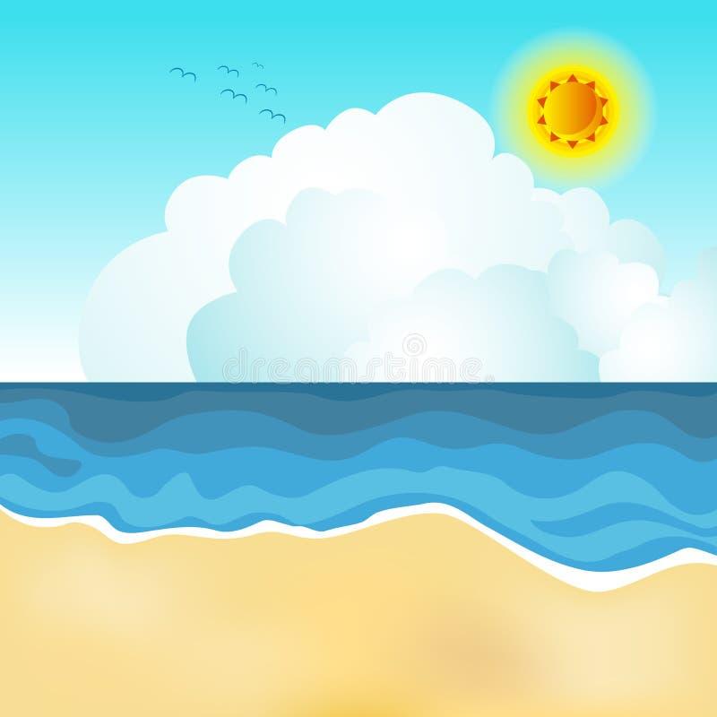 De scène van het strand stock illustratie