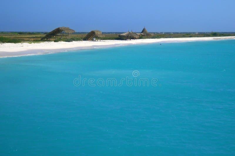De scène van het strand in Klein Curacao stock fotografie