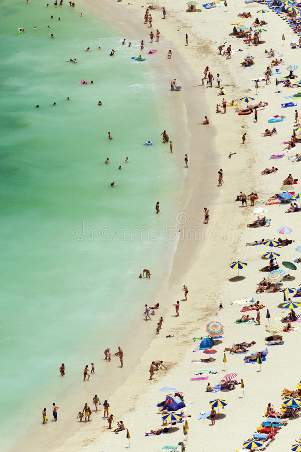 De scène van het strand, luchtmening stock afbeeldingen
