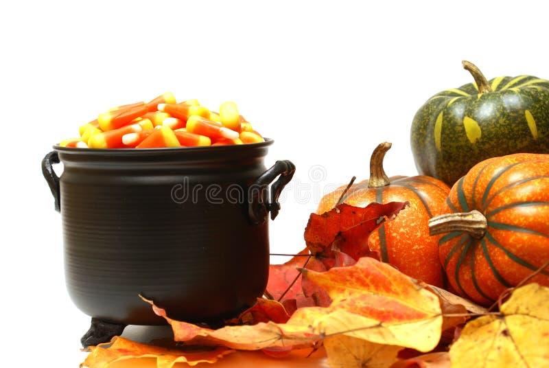 De Scène van het Suikergoed van Halloween stock afbeelding