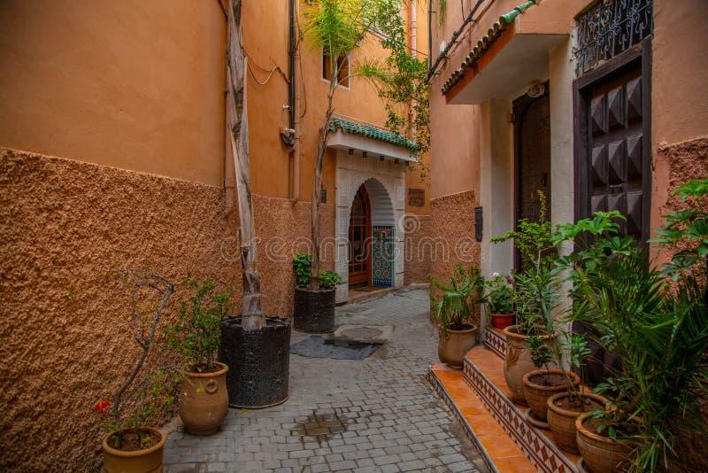 De Scène van Marrakech Medina stock afbeelding