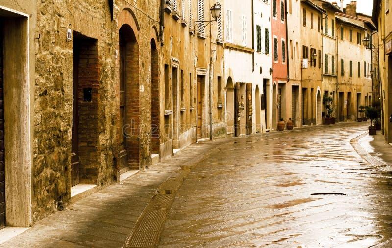 De scène van Tipical van Toscanië, Italië. Quirico van San. stock afbeelding