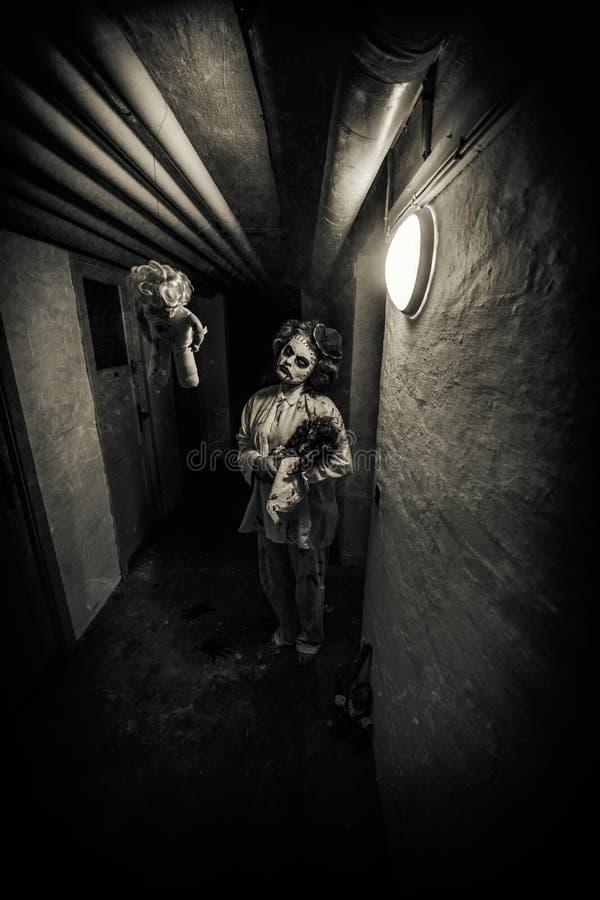 De scène van de verschrikkingsfilm stock afbeelding