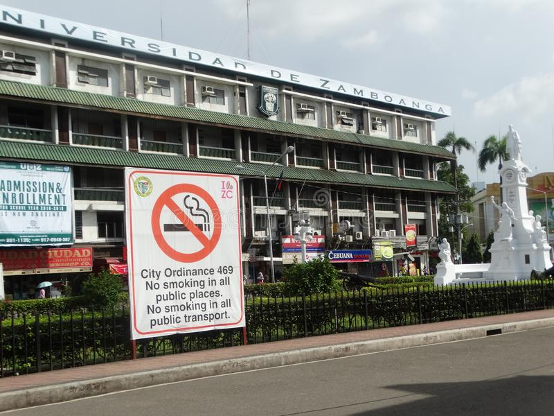 De scène van de Zamboangastraat, Mindanao, Filippijnen royalty-vrije stock foto