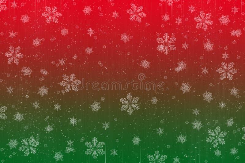 de scènekaart van de KerstmisSneeuw stock illustratie