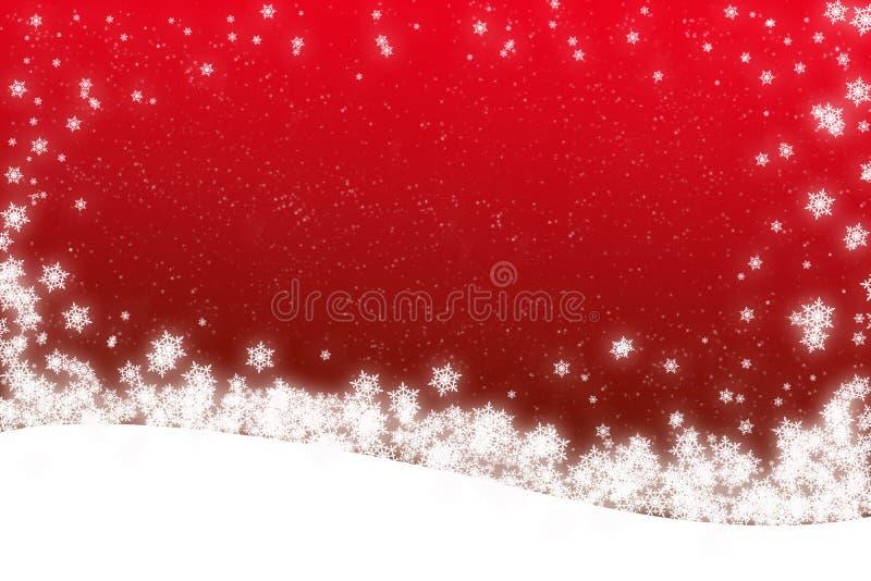 de scènekaart van de KerstmisSneeuw vector illustratie