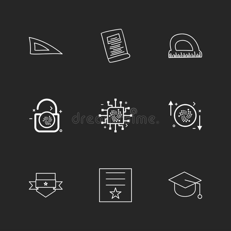 de schaal, meetkunde, document, de schaal van D, slot, opent, beschermt, bedelaars stock illustratie