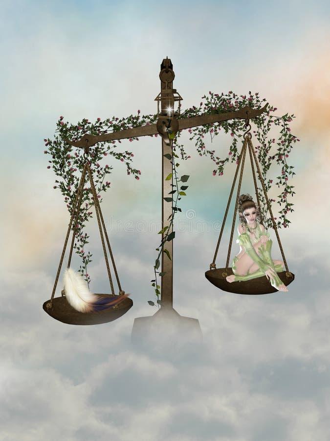 De schaal van de fee royalty-vrije illustratie