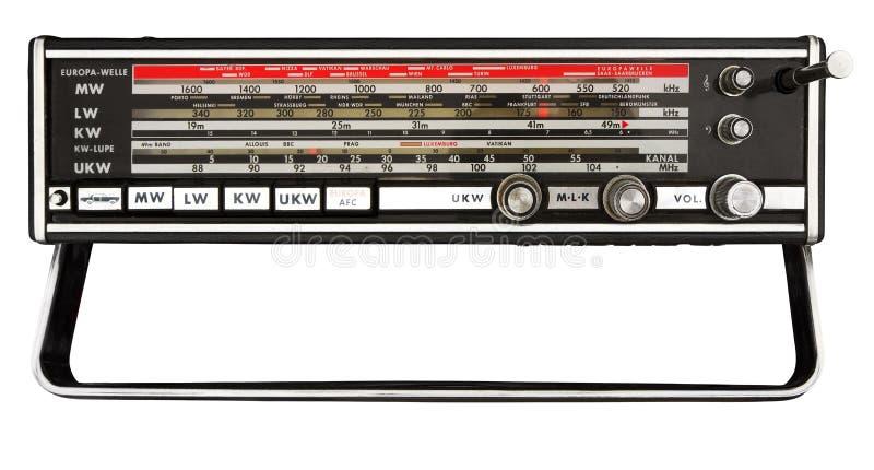 De schaal van de post van oude draagbare radio stock fotografie