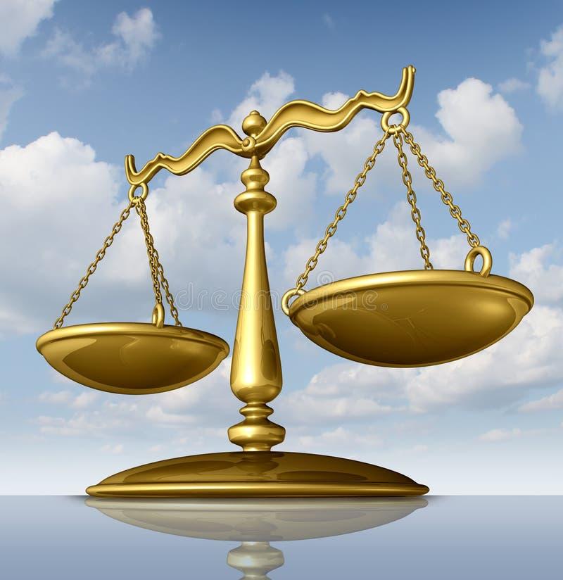 De Schaal van de rechtvaardigheid vector illustratie