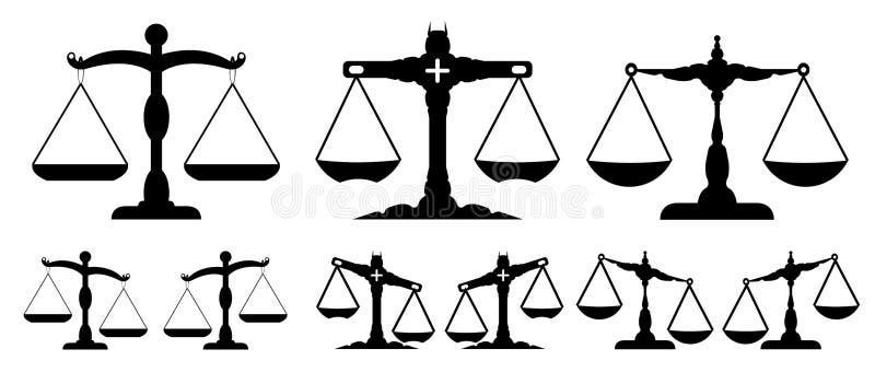 De schaal van rechtvaardigheid stock illustratie