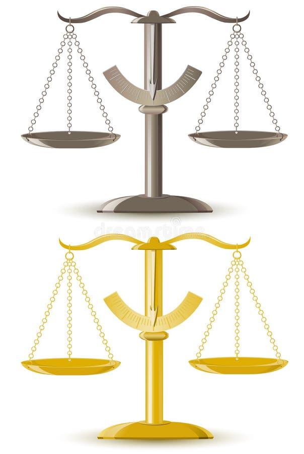 De schaal vectorillustratie van de rechtvaardigheid vector illustratie