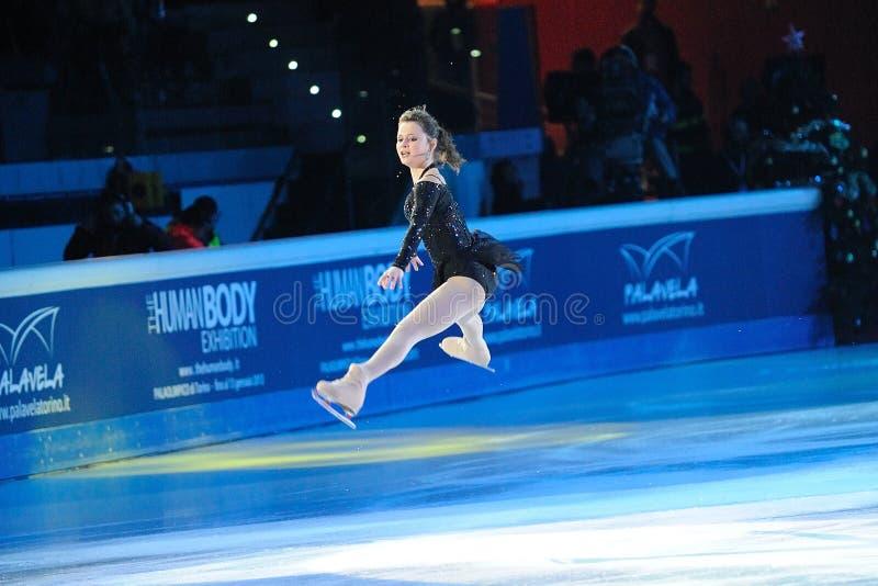 De schaatser Sasha Cohen van het ijs royalty-vrije stock foto's