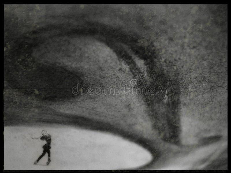 De schaatser van het ijs royalty-vrije stock fotografie