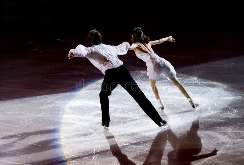 De schaatsers van het cijfer royalty-vrije stock foto's