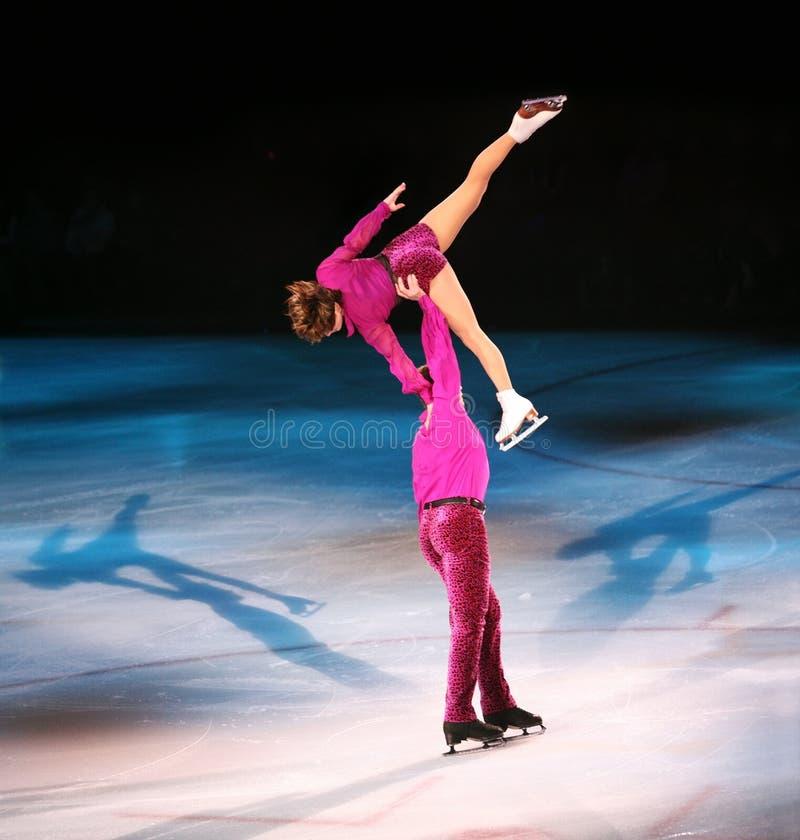 De schaatsers van het cijfer