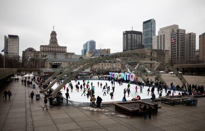 De Schaatsers van Toronto stock fotografie