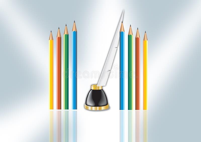 De schacht van het Potlood van de kleur stock illustratie